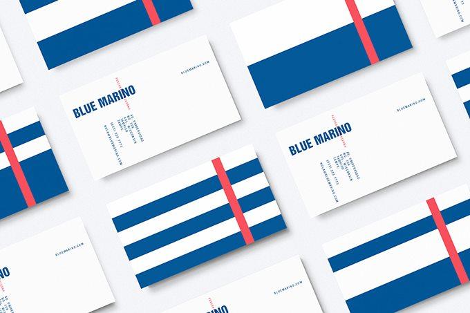 marino海鲜市场vi设计案例图片